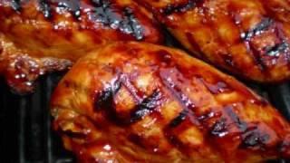Caribbean Pineapple glazed grilled chicken
