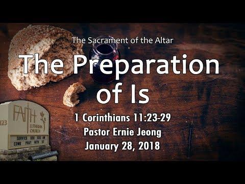 Sacrament of the Altar - Preparation (1 Corinthians 11:23-29)