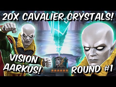 20x 6 Star Vision Aarkus Cavalier Crystal Opening! - Marvel Contest Of Champions