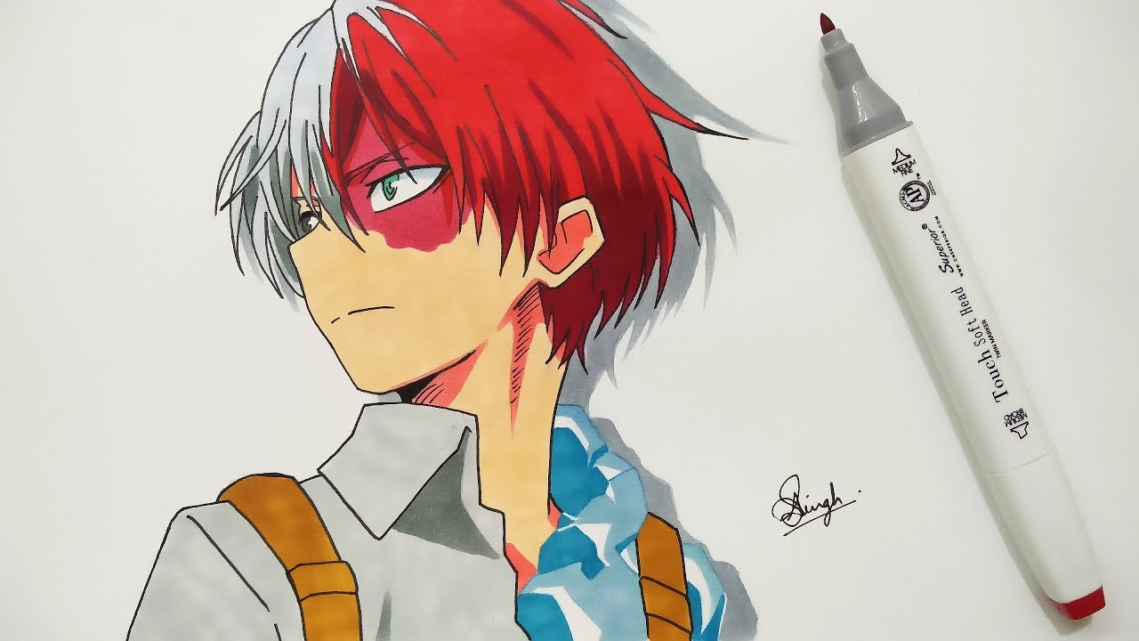 Drawing Shoto Todoroki Boku No Hero Academia