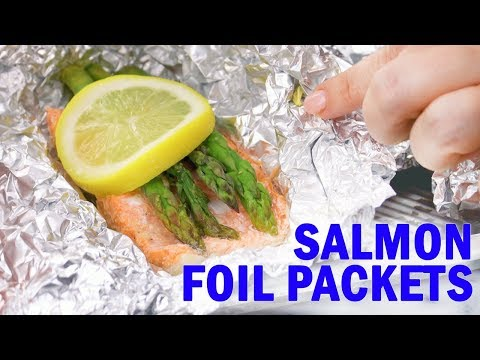 How long to bake salmon in foil packets