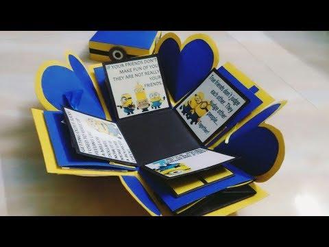 DIY Exclusive Handmade Minion themed Explosion box!!