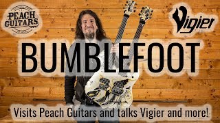 "Ron ""Bumblefoot"" Thal at Peach Guitars!"