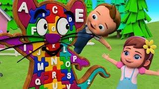 ABC Alphabet Song for Children | Learn Alphabets Mouse A-Z Puzzle Toy Set 3D Kids Educational