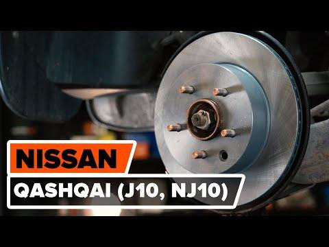 Как заменить задние тормозные диски наNISSAN QASHQAI (J10, NJ10) [ВИДЕОУРОК AUTODOC]