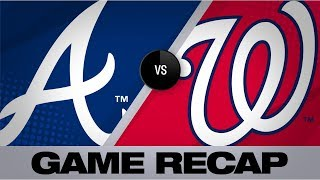 Braves clinch a postseason berth in 10-1 win | Braves-Nationals Game Highlights 9/14/19