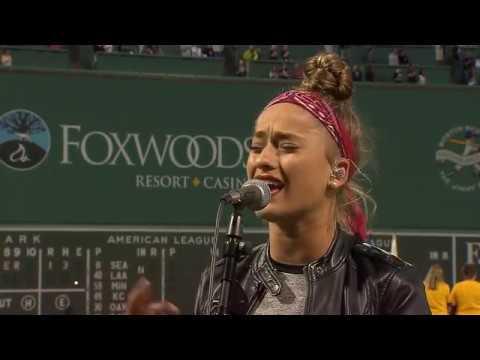 Brynn Cartelli  National Anthem  91318 Boston Red Sox v Toronto Blue Jays