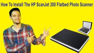 how to install hp scanjet 200 flatbed scanner