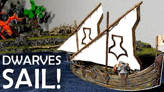 Dwarves Sail to Dragonshore! How to Make a Miniature Ship from Cardboard (D&D)
