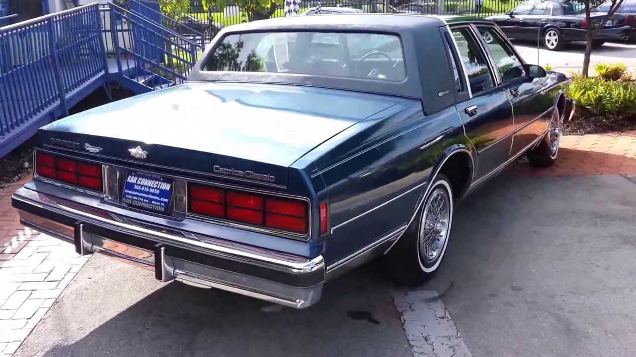1988 chevrolet caprice ls, one owner @ karconnectioninc com miami, fl -  youtube