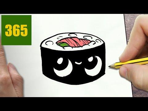 Sushi Disegno Da Colorare.Come Disegnare Sushi Kawaii Passo Dopo Passo Disegni