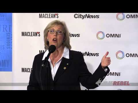 Elizabeth May: Left wing hypocrisy on display during debate
