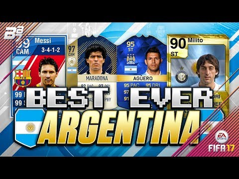 THE BEST EVER ARGENTINA TEAM ON FIFA! w/ ICON 97 MARADONA AND 99 SPECIAL MESSI! FIFA ULTIMATE TEAM