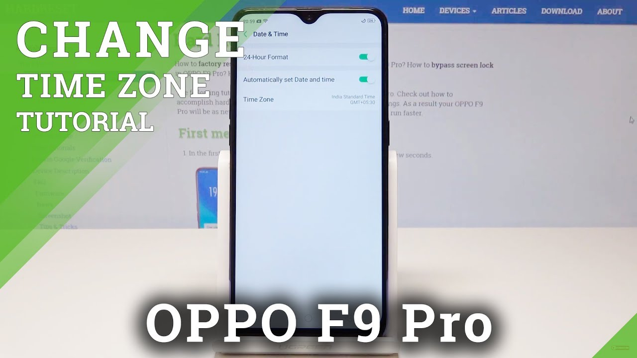 How to Change Date & Time in OPPO F9 Pro - Time Zone Settings