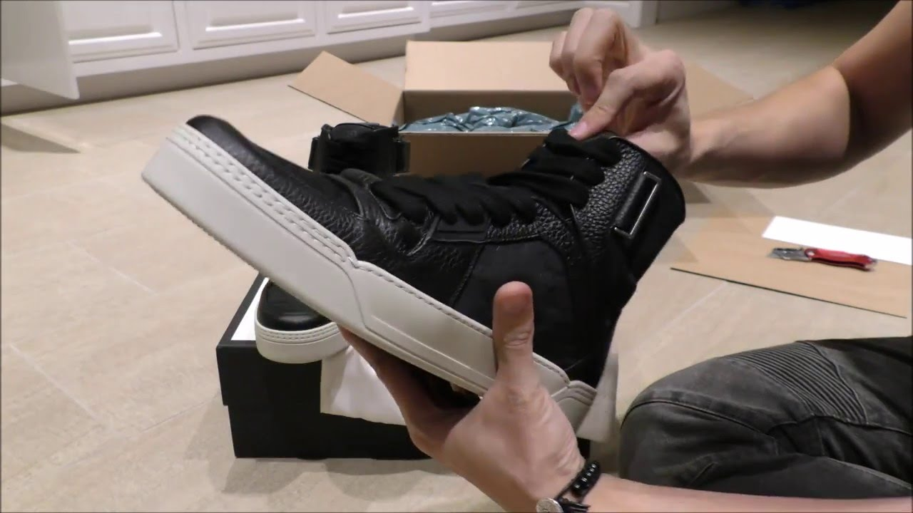 4d004cffc034 Gucci Nylon Guccissima high-top sneaker Review - YouTube