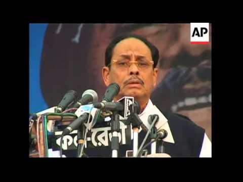 Former PM Hasina addresses large anti-govt protest