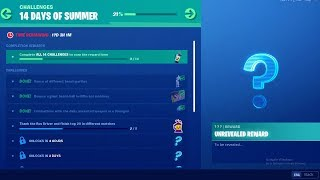 FORTNITE 14 DAYS OF SUMMER DAY 5 CHALLENGE! NEW FREE ITEMS!