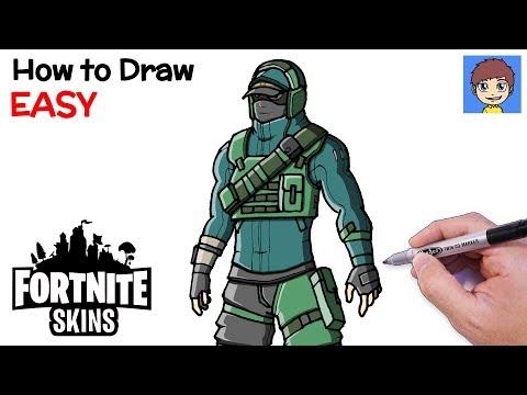 How to Draw Fortnite REFLEX Skin Step by Step - Fortnite Skins Drawing