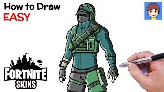 How to Draw Fortnite REFLEX Skin Step by Step - Fortnite Skins Drawing