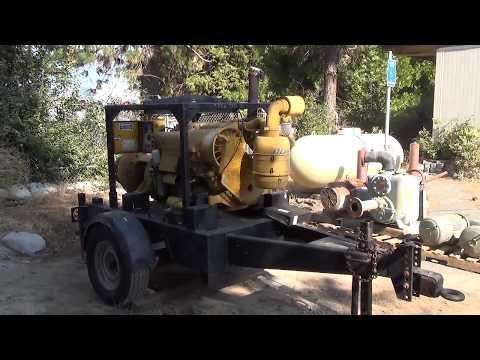 "Nevada County Surplus Auction: Lot 803 - Deutz 6"" Water Pump on Trailer"