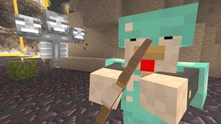 Minecraft Xbox - Cave Den - Baby Otter, CHARGE!  (89)