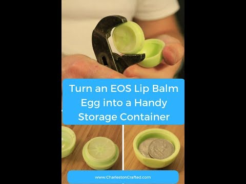How to turn an empty EOS lip balm into a storage container