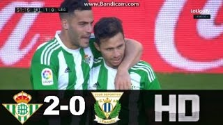 Video Gol Pertandingan Real Betis vs Leganes