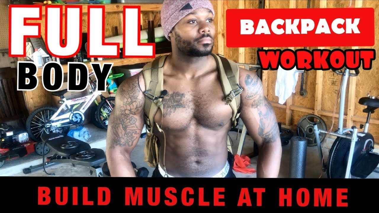 AT HOME BACKPACK WORKOUT | Full body Resistance Training without Equipment