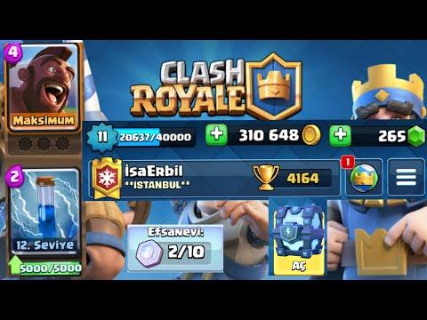 Clash Royale Bedava Hesap Veriyorum Ve Mega Yıldırım Sandığı Açıyorum!