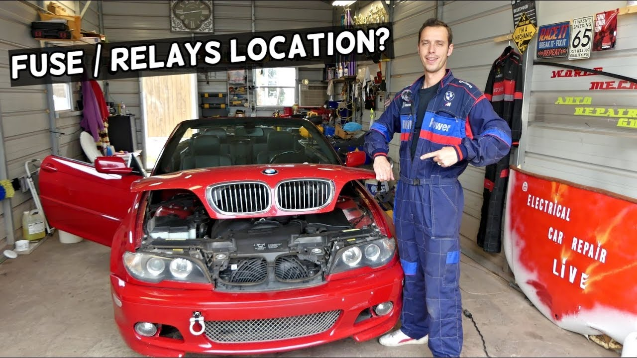 Bmw E46 Fuse Box Location Bmw E46 Relays Location Youtube