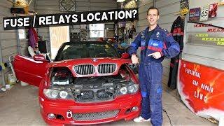 BMW E46 FUSE BOX LOCATION | BMW E46 RELAYS LOCATION - YouTube | 2004 Bmw 330ci Fuse Box Location |  | YouTube