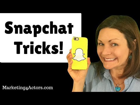 Snapchat Tricks for Actors