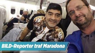 BILD-Reporter erinnert sich: Maradona schoss sich neben mir im Flugzeug ab