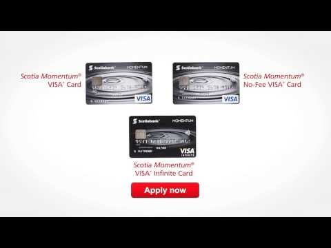 The Scotia Momentum® suite of cash back VISA* cards