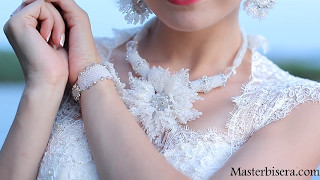 """Свадебное Колье из бисера """"Хризантема"""" - бесплатный мастер-класс!"""