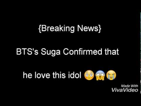 [ Breaking News ] BTS's SUGA Love This Idol...!!!! Are They are Dating....?!!!