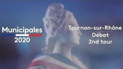 Municipales 2020 : débat du second tour à Tournon-sur-Rhône (Ardèche)