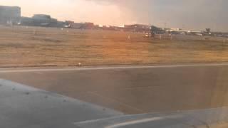 Landing Boeing 737-5Y0. Nordavia. Sheremetyevo International Airport