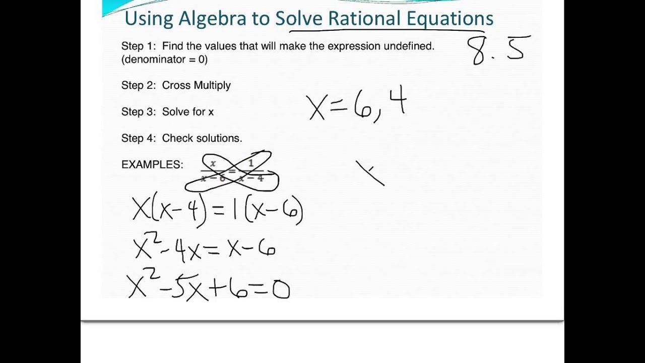 worksheet Cross Multiply 10 1 8 5 solve rational equation intro and cross multiply algebra 2