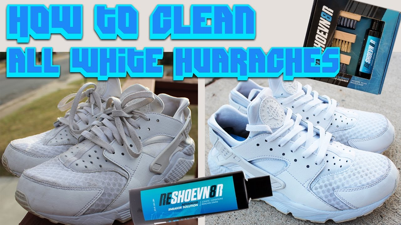 HOW TO CLEAN ALL WHITE HUARACHES!! - YouTube 433886967