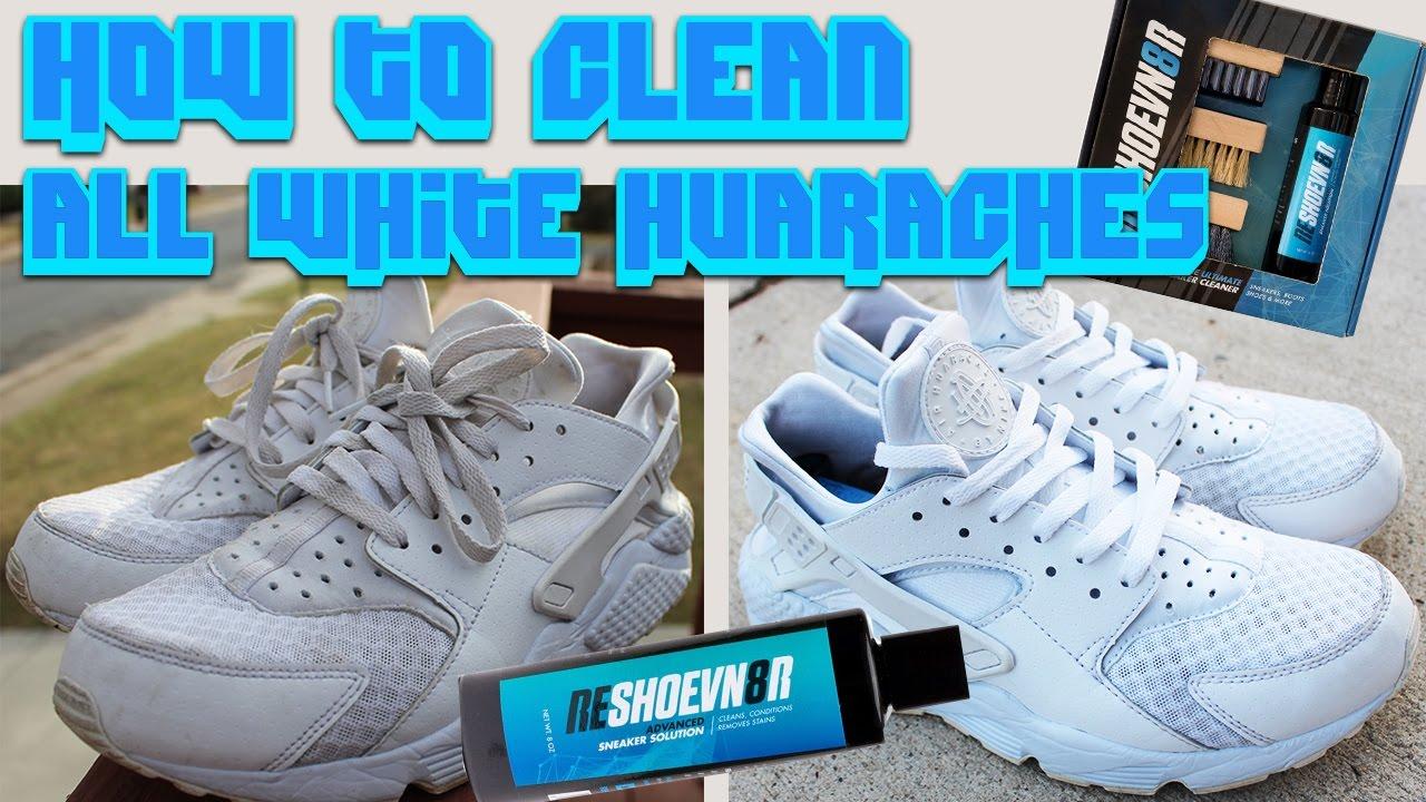 f0870c074efe HOW TO CLEAN ALL WHITE HUARACHES!! - YouTube