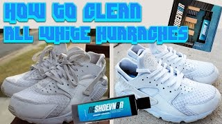 HOW TO CLEAN ALL WHITE HUARACHES!!