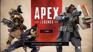 Ops! Something went wrong try again later (105)Apex Legends how to fix