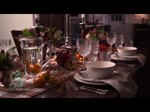 How To Create A Festive Fall Or Winter Holiday Table Display For Dinner Parties Or Entertaining