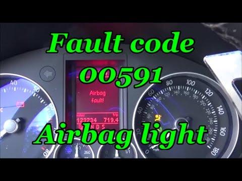 Volkswagen Seat Belt Repair Air Bag Light Youtube
