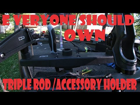 Download Scotty triple rod holder holds Everything! Along with a new fish finder. Must check this install out