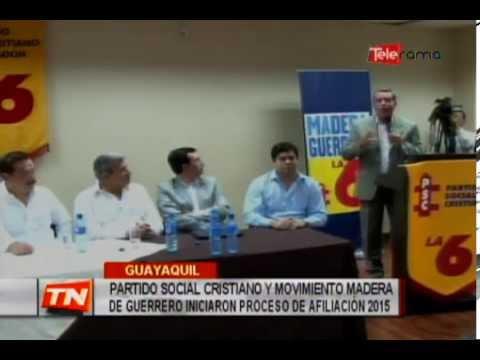 Partido Social Cristiano y movimiento Madera de Guerrero iniciaron proceso de afiliación 2015