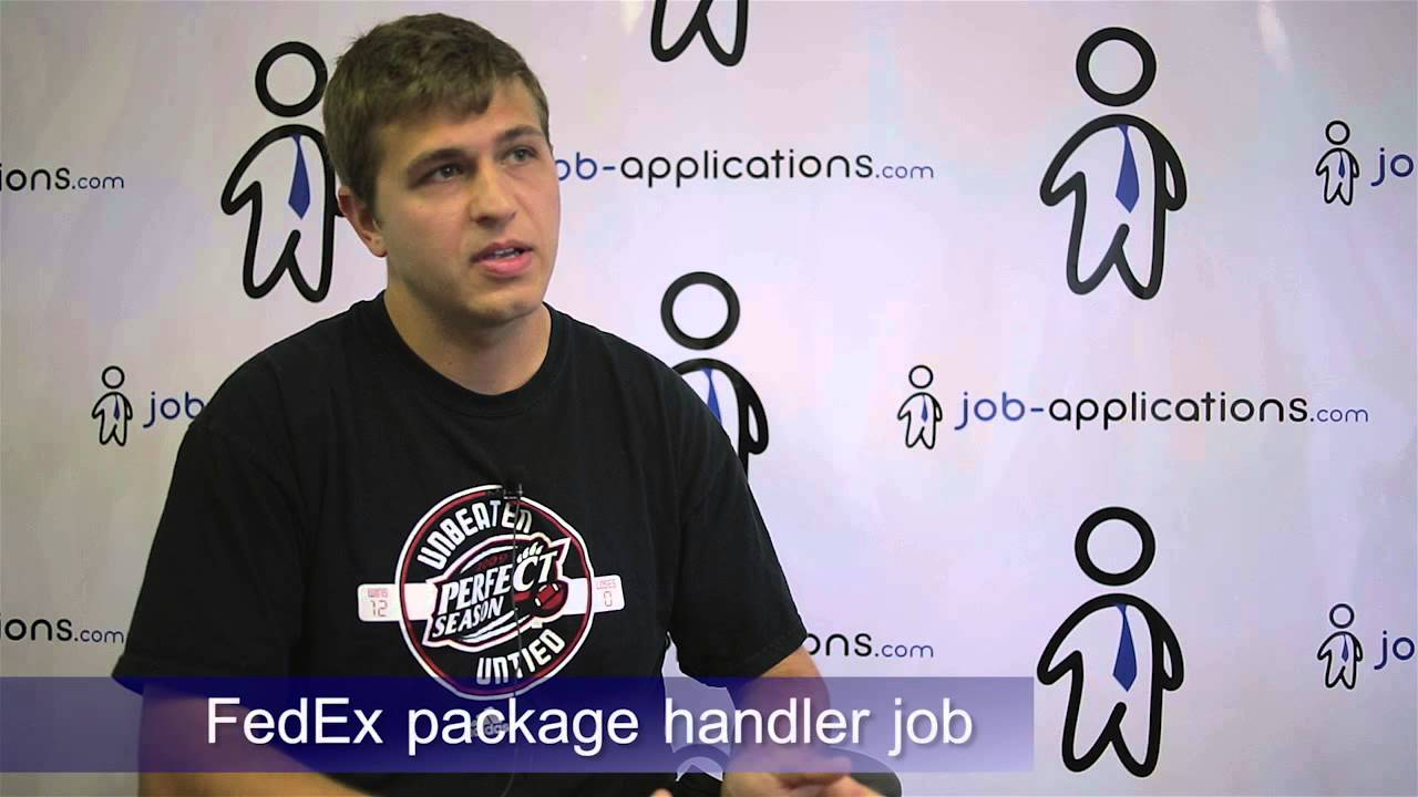Fedex Package Handler Job Description Pay