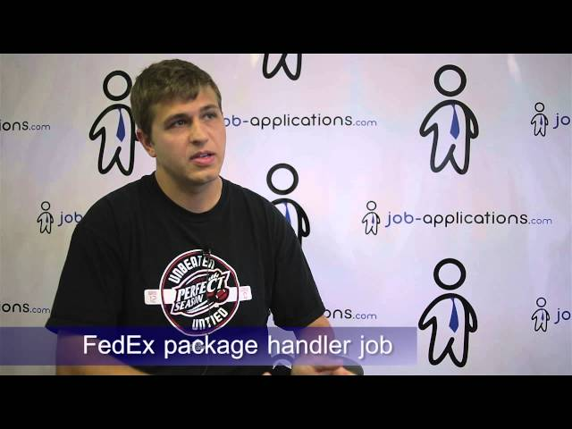 Fedex Package Handler  Job Description  Salary
