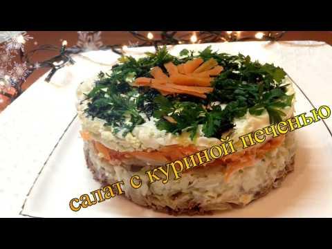 Салат с куриной печенью Вкусно и Просто